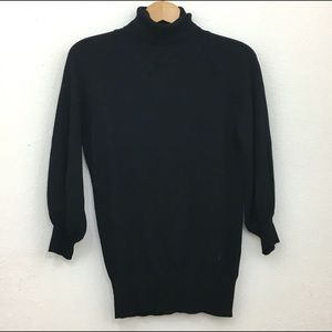 Express turtleneck black lightweight sweater M